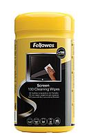 Салфетки для экранов Fellowes®  дерматологически безопасные  100 шт. в тубе  UK