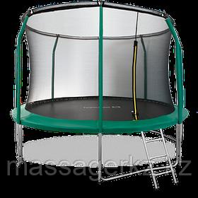 ARLAND Батут премиум 12FT с внутренней страховочной сеткой и лестницей (Dark green)