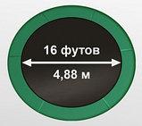 ARLAND Батут премиум 16FT с внутренней страховочной сеткой и лестницей (Dark green), фото 2