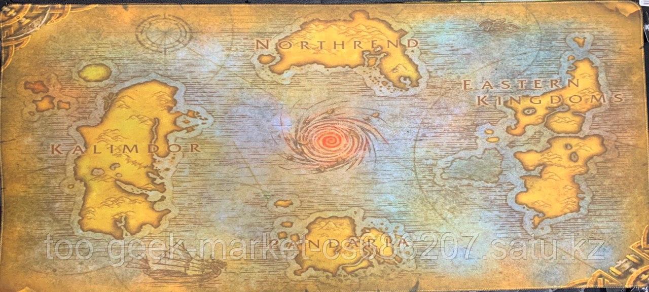 """Игровой коврик для мыши """"Карта вселенной ВОВ"""""""
