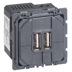 CLN Розетка для зарядки 2USB 1500А /67462/