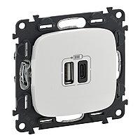 VLN A 2*USB А+С зарядка 3А БЕЛ /754965/
