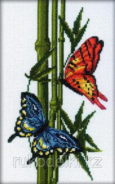 """Набор для вышивания крестом """"Бабочки и бамбук"""""""