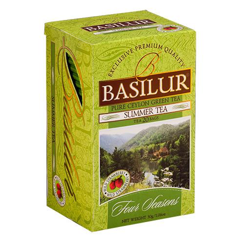 Чай зелёный пакетированный Четыре сезона Летний Чай Summer Tea, 20пак Basilur