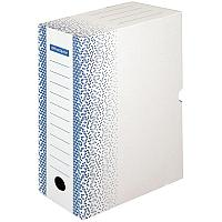 Короб архивный с клапаном OfficeSpace, микрогофрокартон 320x260x100 мм, 100мм, синий, до 900л.