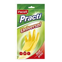 Перчатки хозяйственные, резиновые Paclan Practi.Universal, р.M, желтые