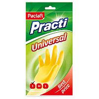 Перчатки хозяйственные, резиновые Paclan Practi.Universal, р.S, желтые