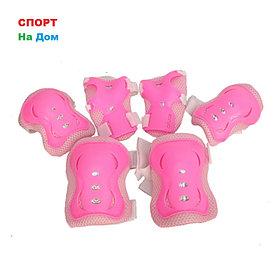 Защита для роликовых коньков детская (цвет розовый, размер S)