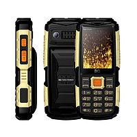 Мобильный телефон BQ-2430 Tank Power Чёрный+Золотой