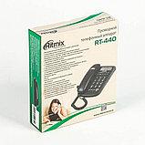 Телефон проводной Ritmix RT-440 черный, фото 3