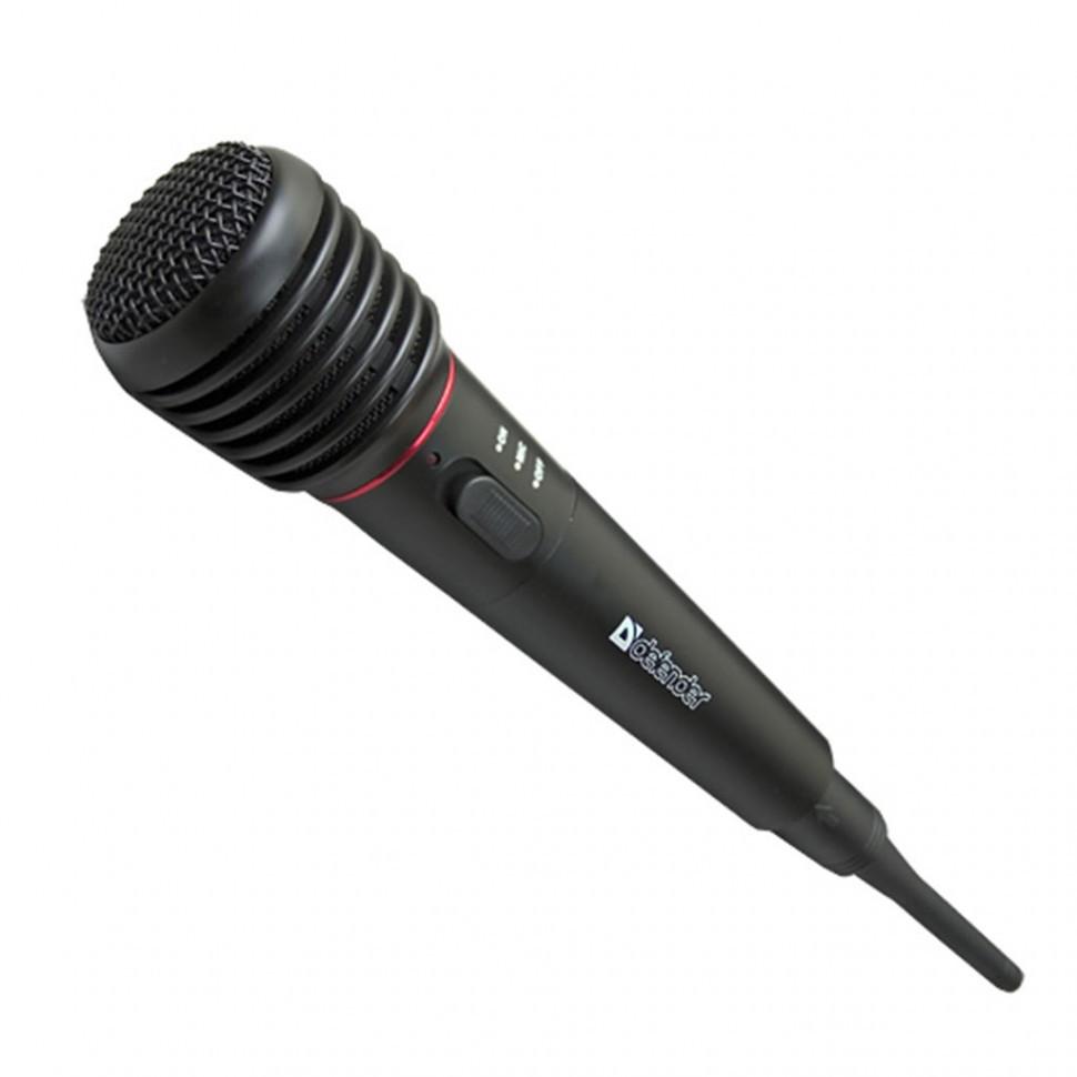 Микрофон вокальный Defender MIC-142, черный, 64142