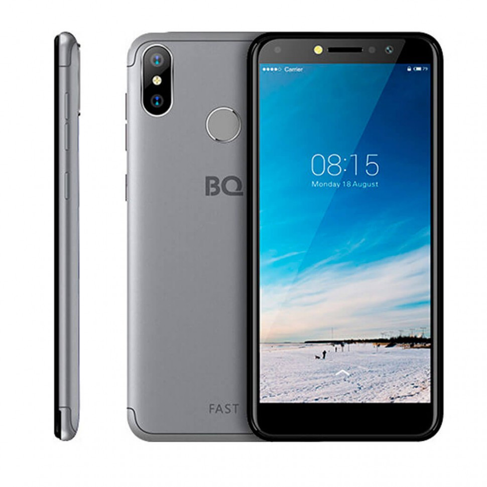 Смартфон BQ-5515L Fast, Титановый-серый