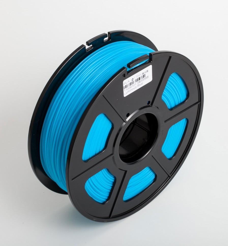 Пластик для 3D принтеров гибкий, SunLu, прозрачно-синий