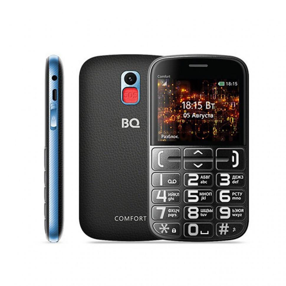 Мобильный телефон BQ-2441 Comfort Синий+Черный