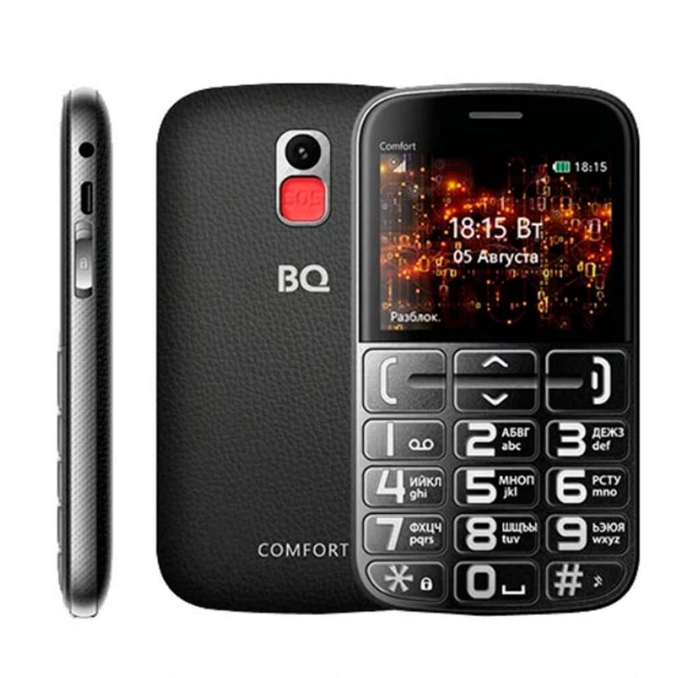 Мобильный телефон BQ-2441 Comfort Черный+Серебристый