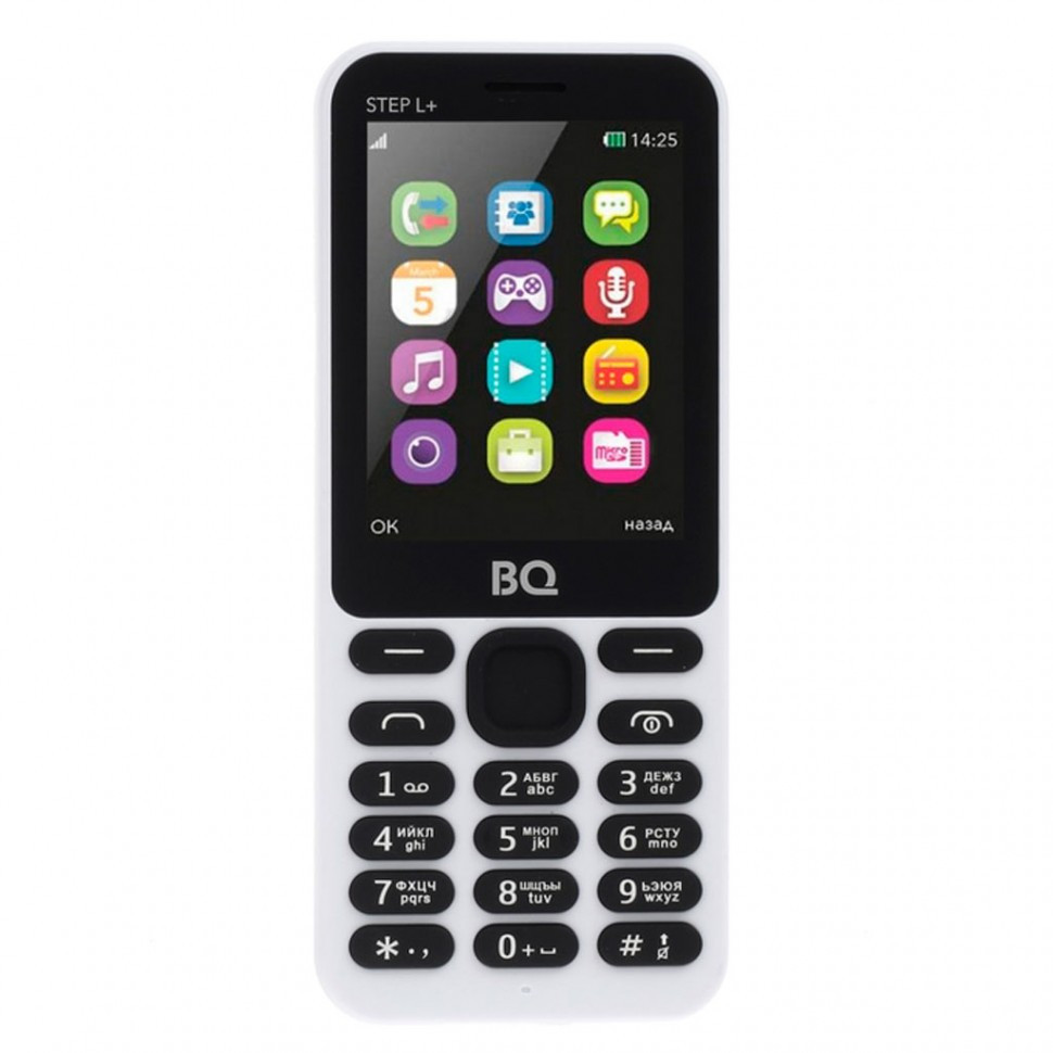 Мобильный телефон BQ 2431 Step L+ белый