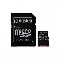 Карта памяти MicroSD 64GB Class 10 U1 Kingston SDC10G2/64GB