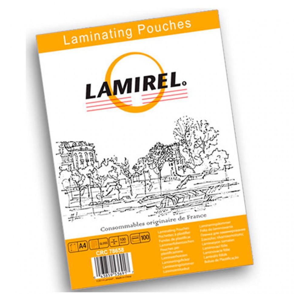 Пленка для ламинирования  Lamirel А4, 100мкм, 100 шт