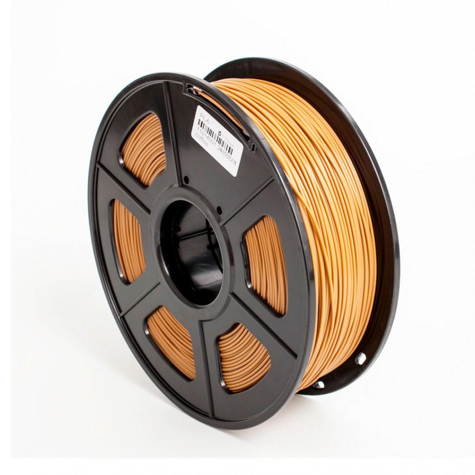 Пластик для 3D принтеров PLA+, SunLu, коричневый