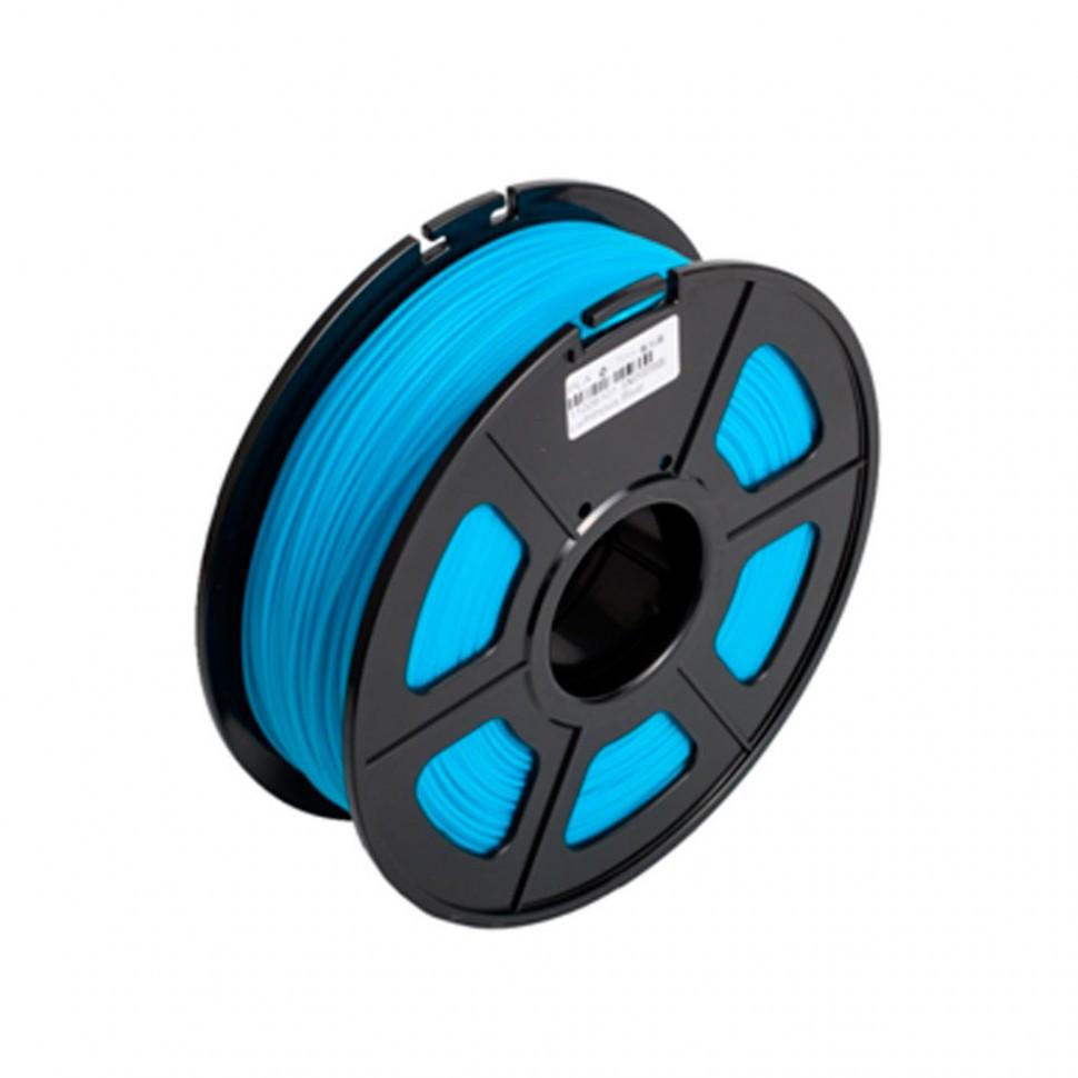 Пластик для 3D принтеров PLA, SunLu, светящийся, синий