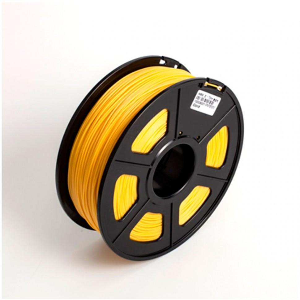 Пластик для 3D принтеров ABS, SunLu, светящийся, желтый