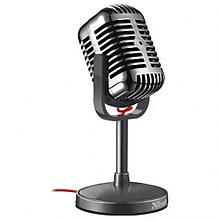 Микрофон компьютерный Trust Elvii Vintage Microphone в винтажном стиле.