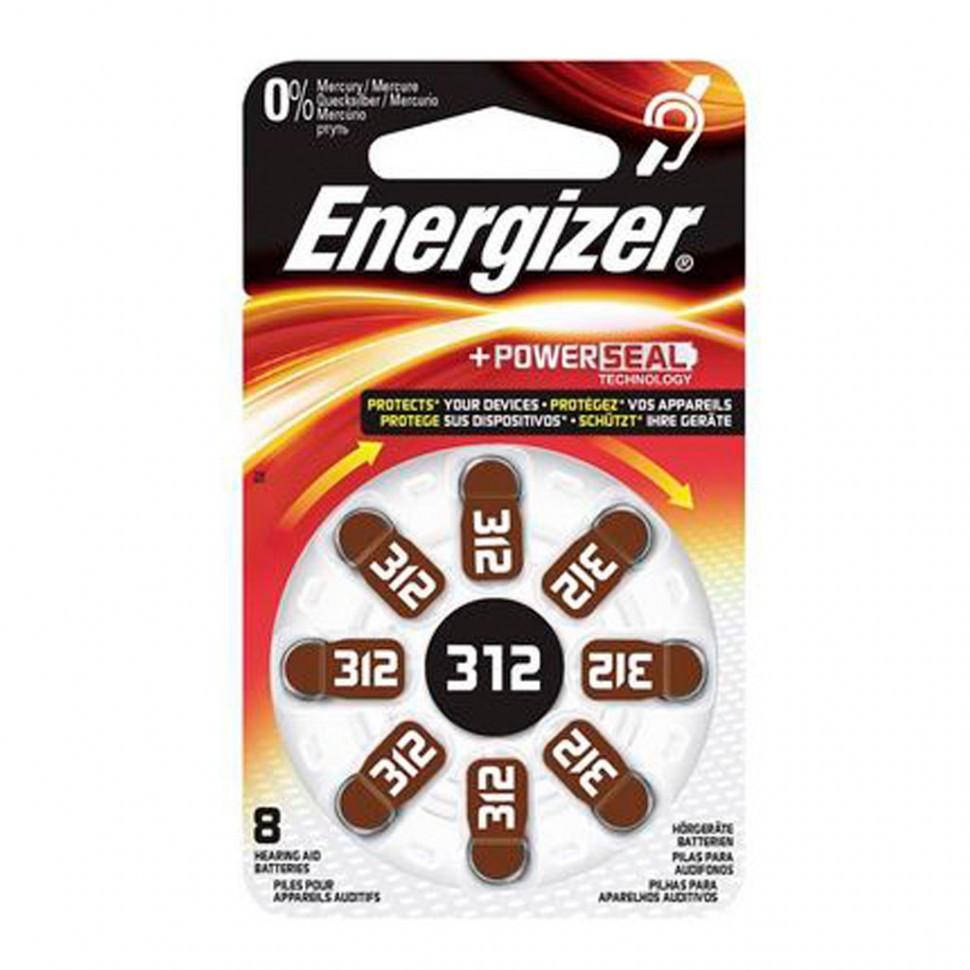 Элемент питания Energizer  Zinc Air 312 -8 штук в упаковке