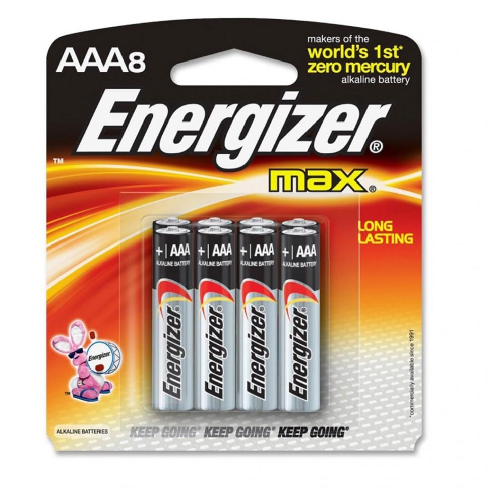Элемент питания LR03 АAA Energizer MAX  Alkaline 8 штук в блистере