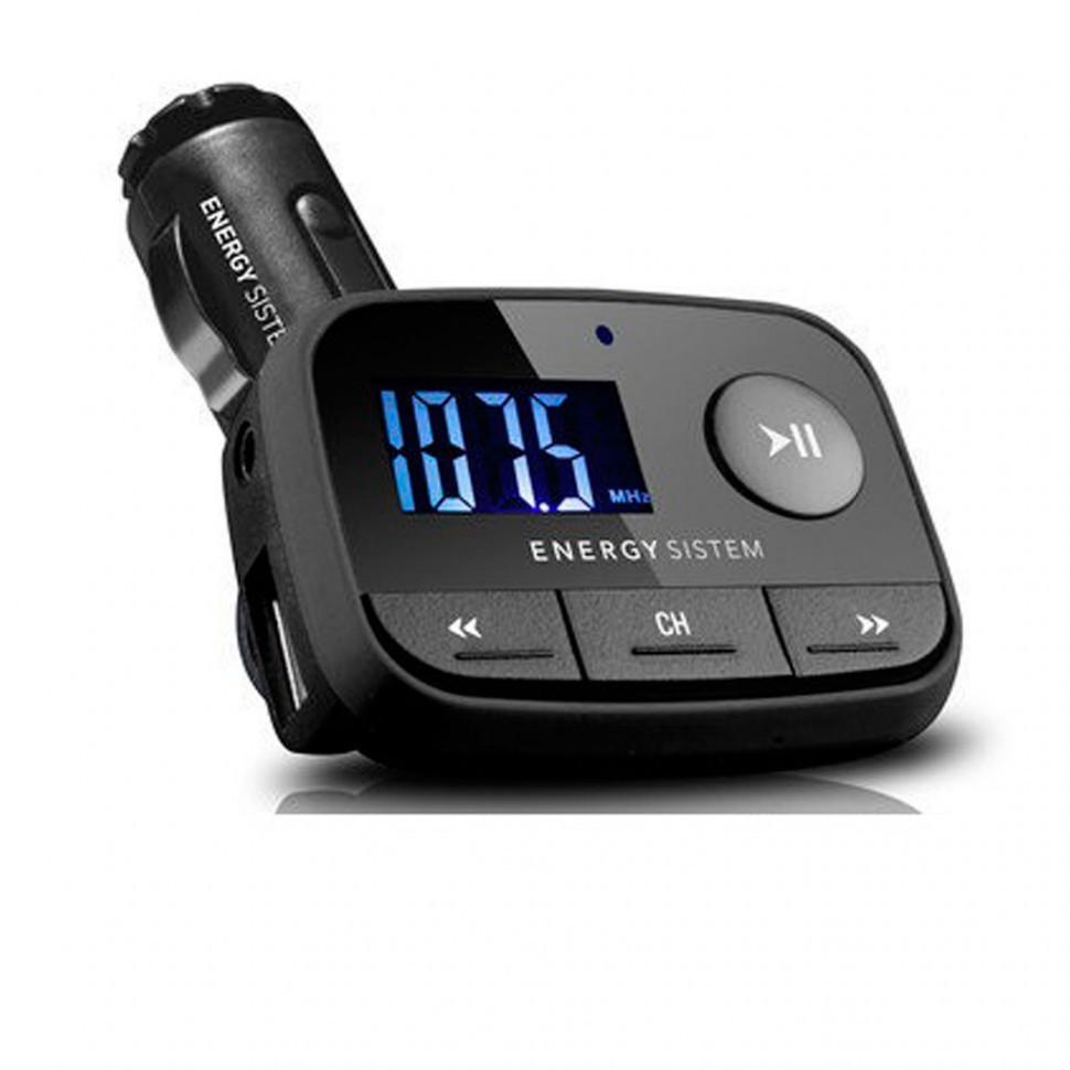Модулятор FM Energy Sistem Car +USB+AUX черный