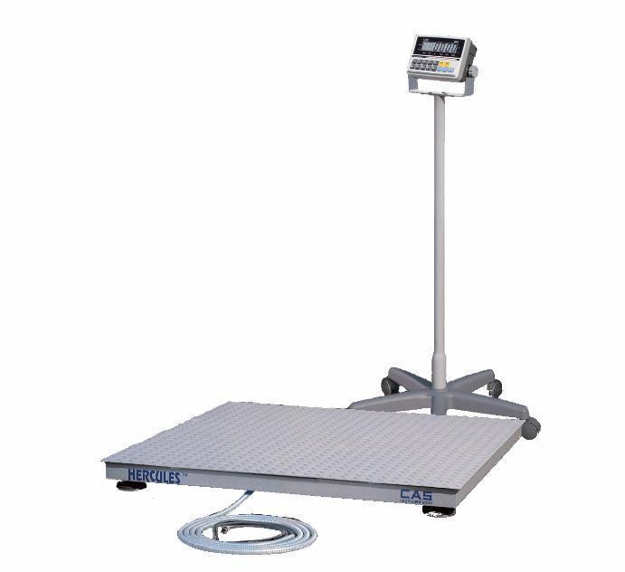 Весы платформенные электронные CAS Геркулес П 0,5 (1x1.2)