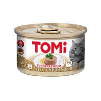 TOMi With Chicken Mousse - влажный корм для кошек  / с курицей