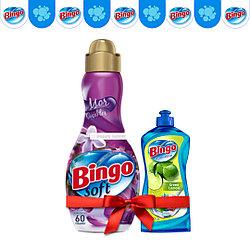 Концентрат для белья Bingo Сирень 1440 мл (в подарок Жидкость для посуды)