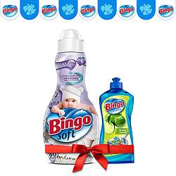 Концентрат для белья Bingo Чувствительный 1440 мл (в подарок Жидкость для посуды)