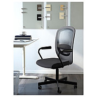 ФЛИНТАН / НОМИНЕЛЬ Вращающееся легкое кресло, серый, фото 1