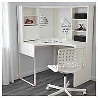 МИККЕ Рабочее место, угловое, белый, белый 100x142 см, фото 1