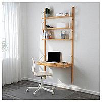СВАЛЬНЭС Рабочее место – комбинация, бамбук, 86x35x176 см, фото 1