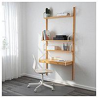 СВАЛЬНЭС Рабочее место – комбинация, бамбук, бамбук 86x35x176 см, фото 1