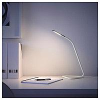ХОРТЕ Рабочая лампа, светодиодная, белый, серебристый, белый/серебристый, фото 1