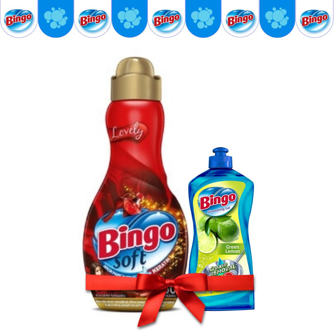 Концентрат для белья Bingo Lovely 1440 мл (в подарок Жидкость для посуды)