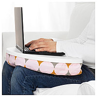 БИЛЛАН Подставка для ноутбука, Иттеред разноцветный, белый, Иттеред разноцветный/белый