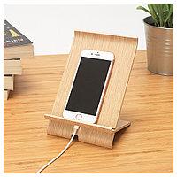 СИГФИН Подставка д/мобильного телефона, бамбуковый шпон, бежевый
