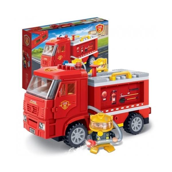 Конструктор BanBao Пожарная машина, 112дет.