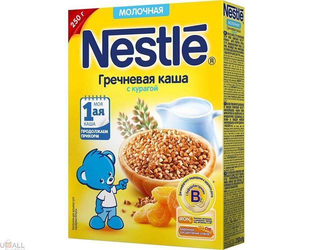 Каша Nestle Гречневая с курагой, молочная с 5 мес. 250 г