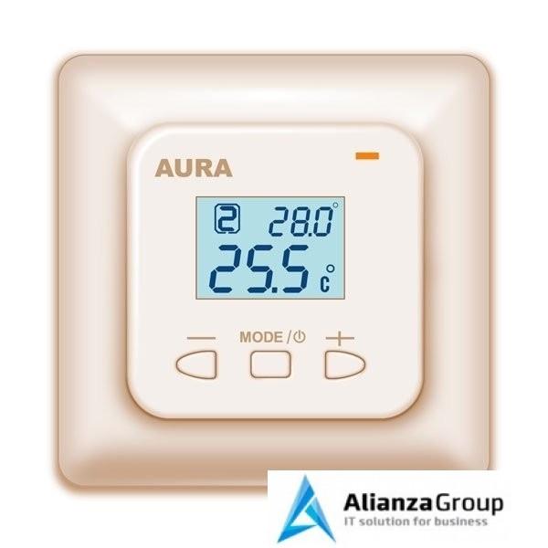 Терморегулятор для теплого пола Aura LTC 440 кремовый