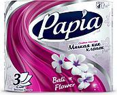 Туалетная бумага BALI FLOWER 3-х сл 4рул PAPIA