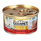Gourmet Голд влажный корм говядина, томат 85гр