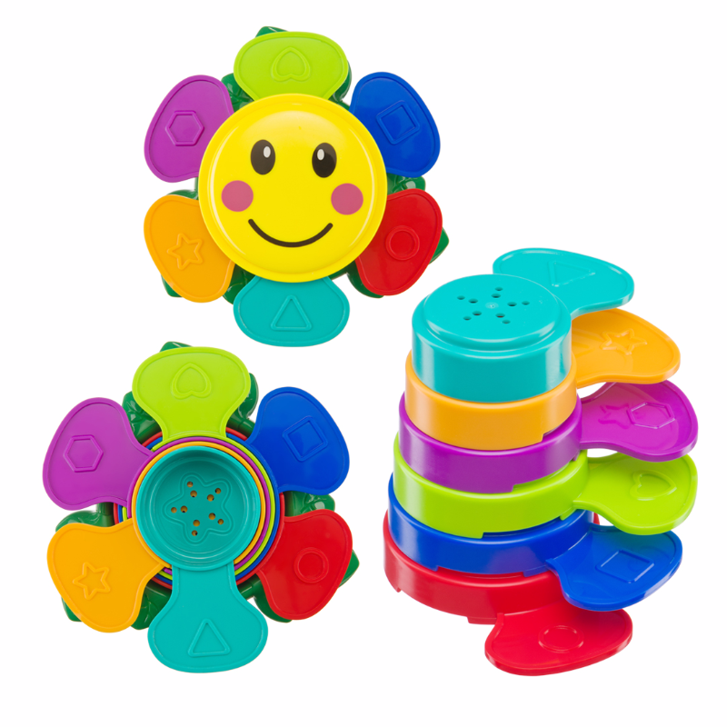 "Набор игрушек для ванной Happy Baby ""FLOWER PUZZLE""  (Набор игрушек на пальцы Happy Baby ""LITTLE FRIENDS"" (32024))"