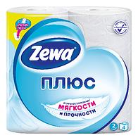 Туалетная бумага Zewa Плюс белая 4р