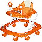 Ходунки BAMBOLA КРАБИК ( BAMBOLA Ходунки КРАБИК  (8 колес,игрушки,муз) 6 шт в кор.(66*56*47) ORANGE оранжевый)
