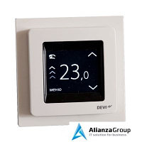 Терморегулятор для теплого пола Devi Терморегулятор Devireg Touch c датчиком пола и воздуха (Полярно-Белый)